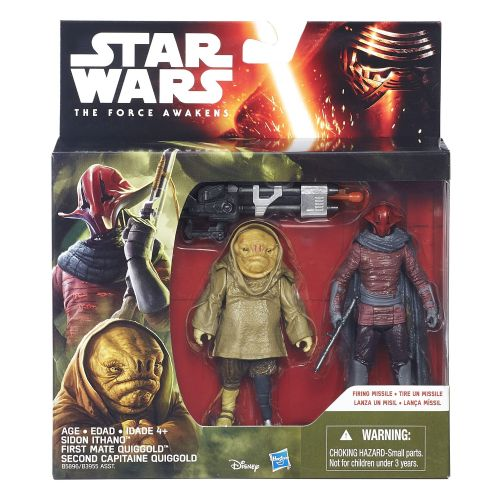Star Wars The Force Awakens Sidon Ithano and First Mate Quiggold Deluxe Pack
